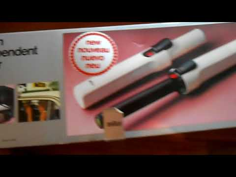 Braun Independent Styler Hair Curler GC1 Boxed Portable Cordless Butane Gas VGC