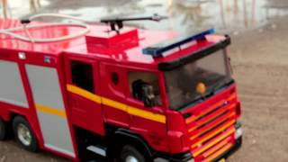 Realistic RC experience - 1/14 Scale Scania fire truck Fire Emergency Response