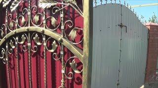 видео купить ворота с калиткой