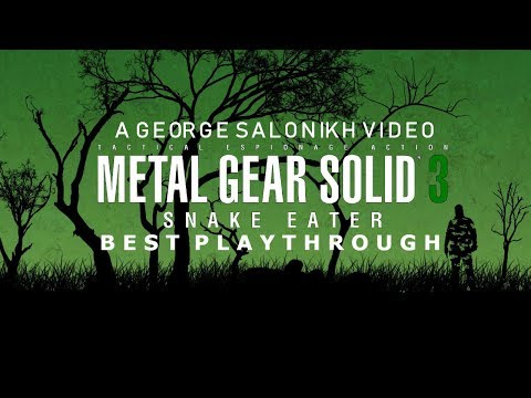 The Best Metal Gear Solid 3: Snake Eater Playthrough on Youtube