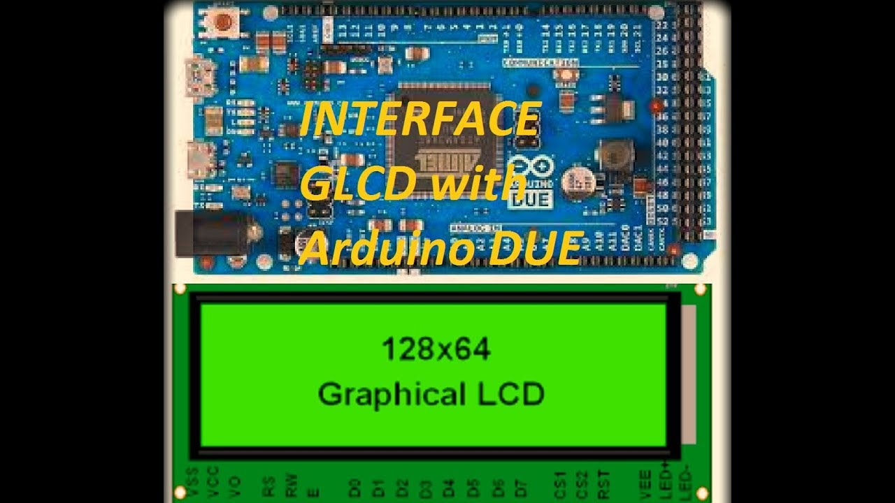 How to interface GRAPHIC LCD display with Arduino DUE