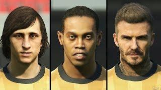 PES 2019 ALL 28 LEGEND FACES (Cruyff, Ronaldinho, Beckham, etc.)