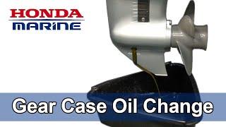 homepage tile video photo for Honda Marine DIY Gear Case Oil Change