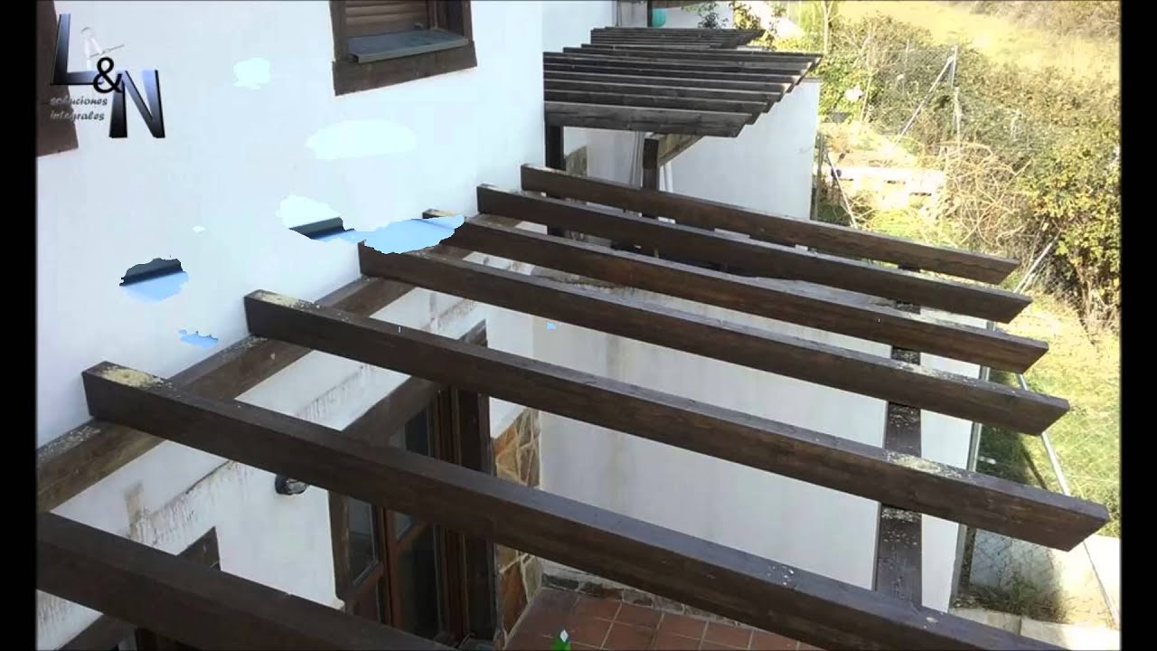 Porche de madera y policarbonato youtube for Pergola policarbonato