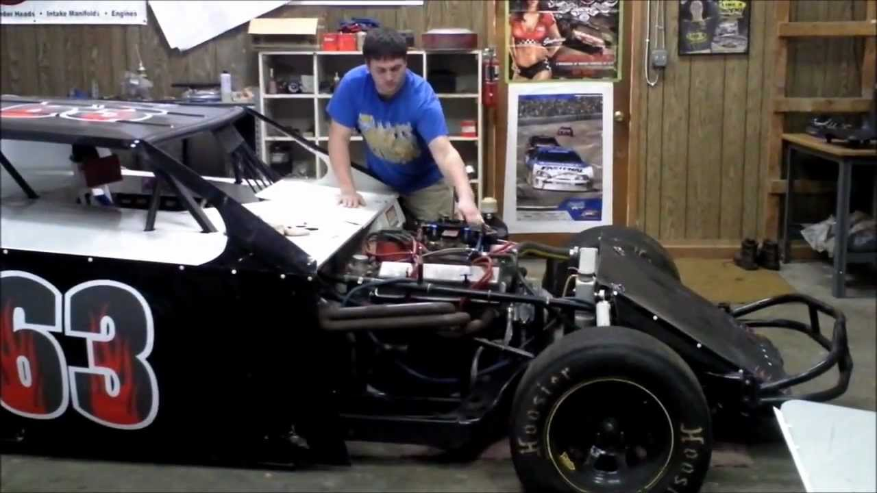English guy Playing with a Dirt Modified Race car in Texas, in the ...