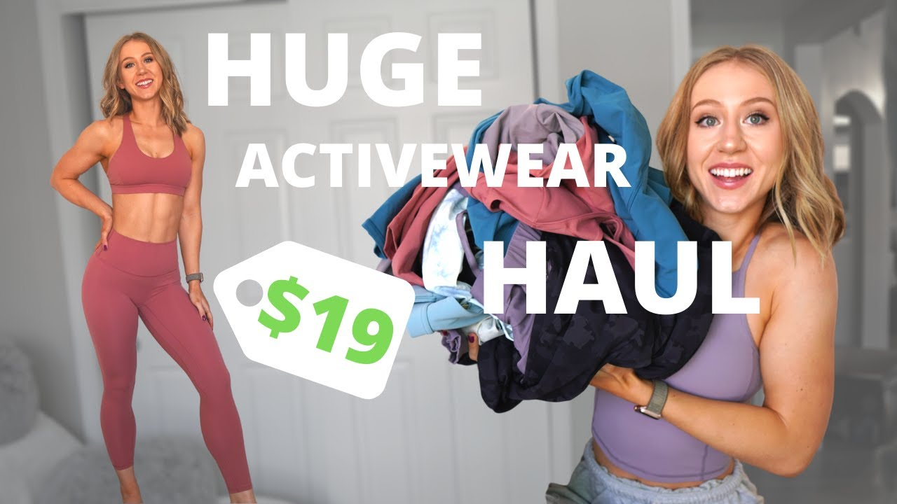 HUGE Affordable Activewear Haul | AliExpress and Amazon Leggings!