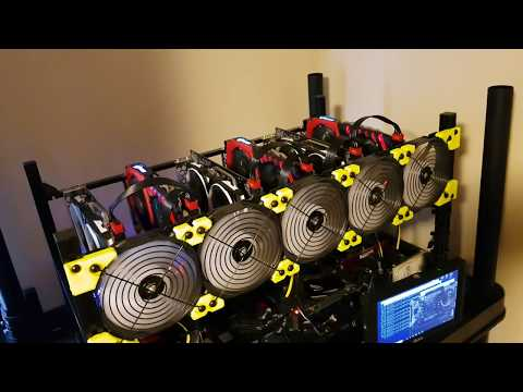 4K My First Time Building A 6 GPU Mining Rig Rx 580 8GB Rx 570 8GB Overview