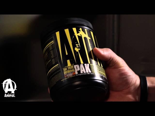 The NEW Original Animal Pak Powder [YouTube 動画] クリックで動画がスタンバイされ、もう1回クリックすると再生します