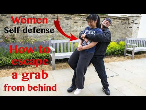 Women self defense - How to escape a grab from behind | Wing Chun