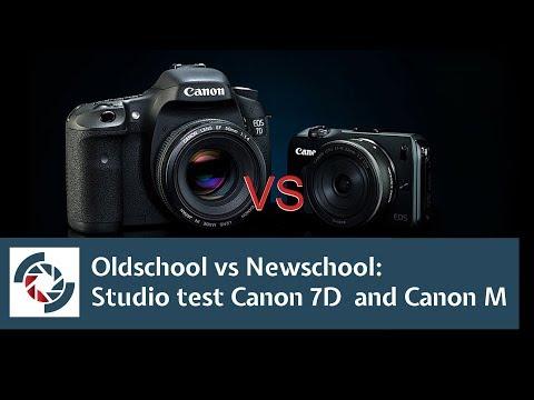 Canon EOS M vs Canon 7D, studio test review