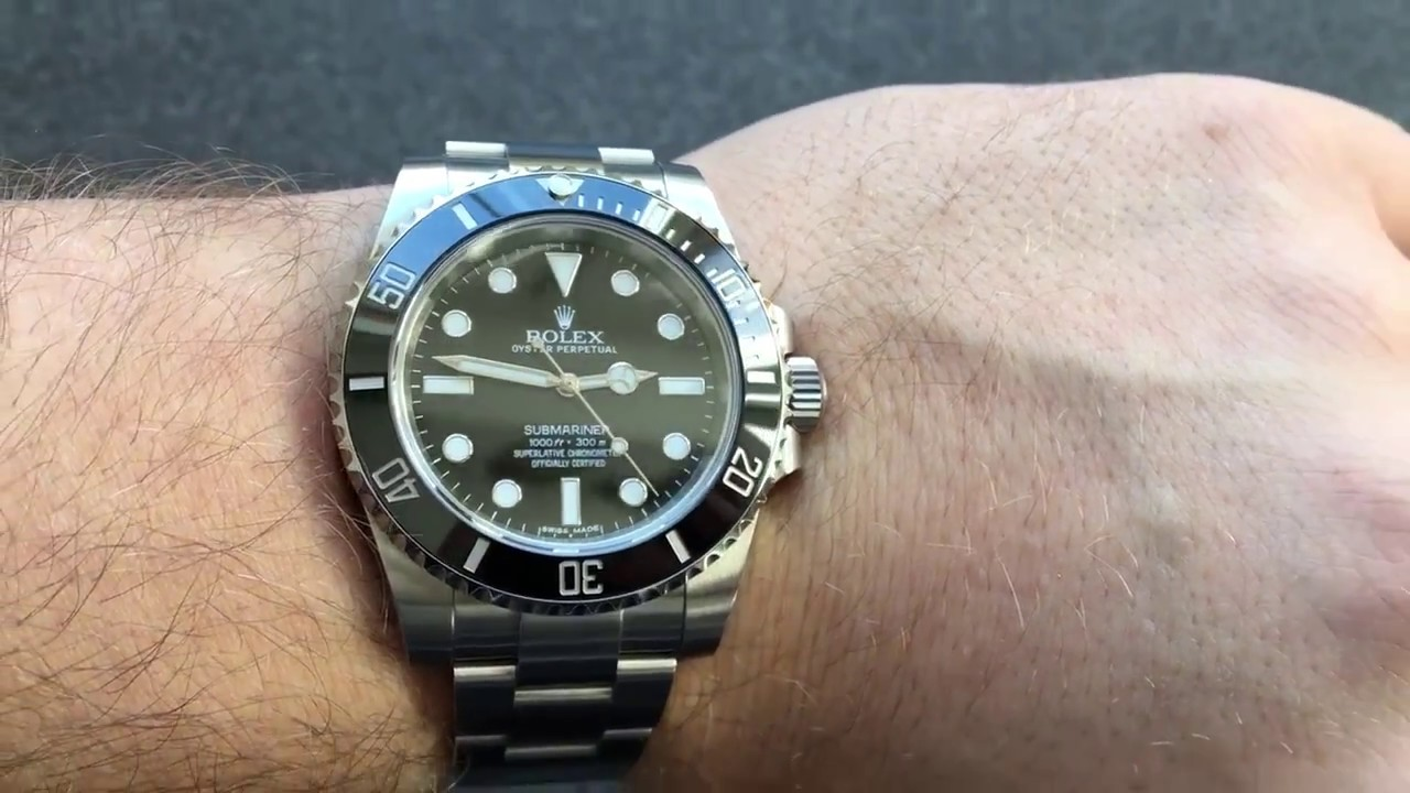 rolex submariner nodate 114060 wrist handgelenk youtube