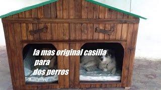 La mas original casilla para dos perros