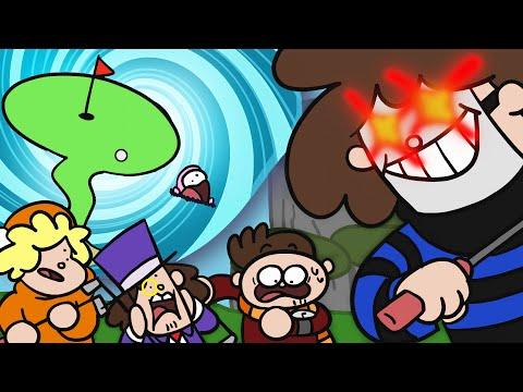 Zombey und seine Freunde erkunden viele Spiele.