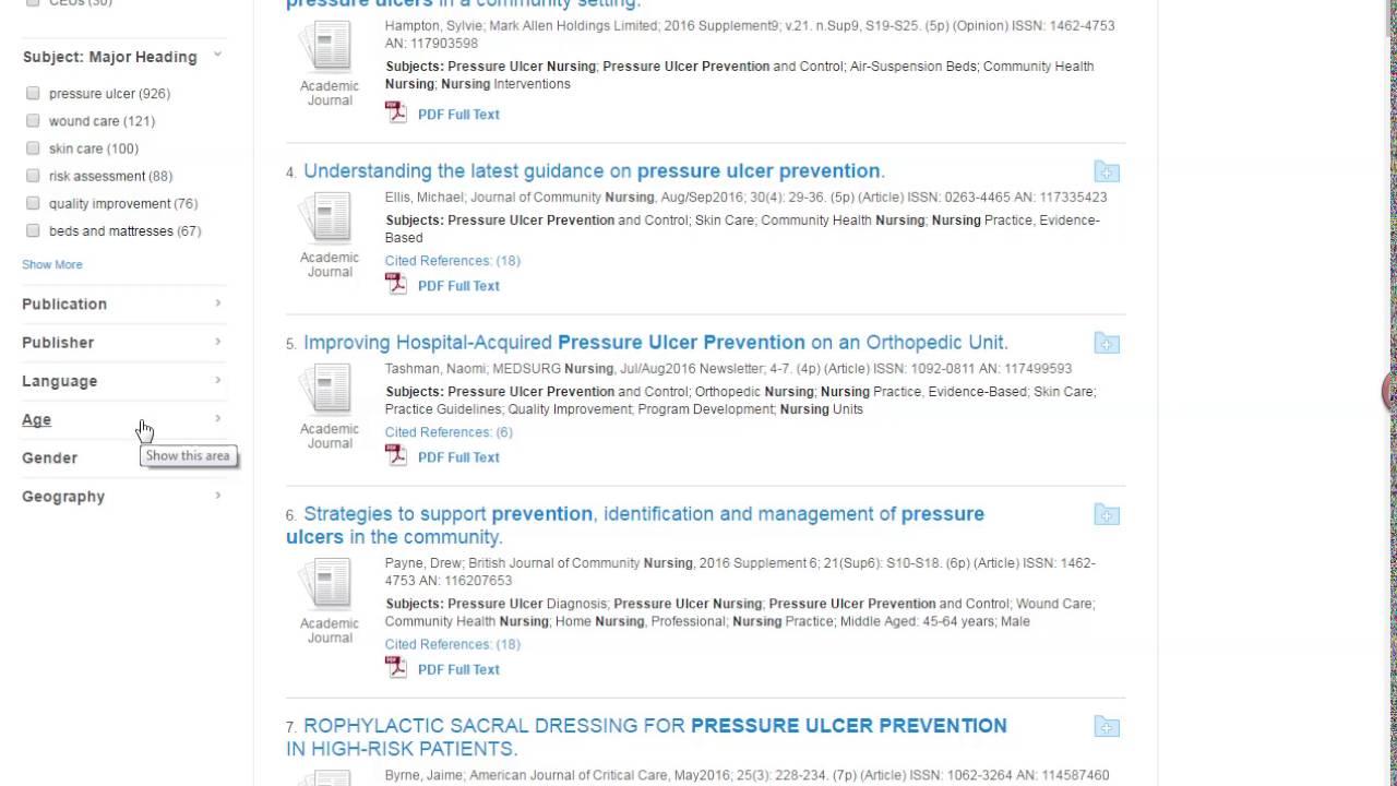 Nursing Journal Articles