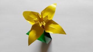 Нарцисс оригами, 4 лепестка (František Grebeníček), Narcissus origami, 4 petals