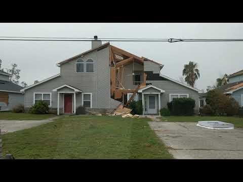 Hurricane Michael. Lynn Haven, FL neighborhood.