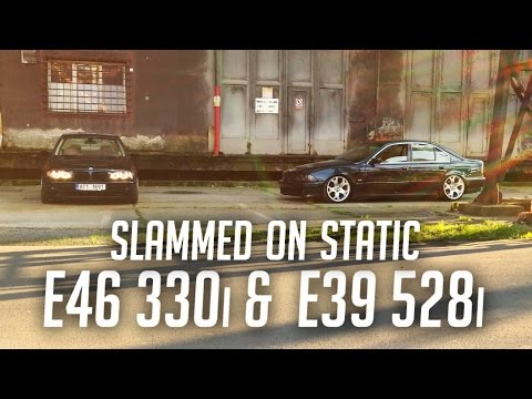 Stanced Bmw E39 528i Vs E46 330i Sitting Low On 19 Quot Inch