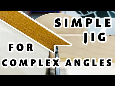 Make a Simple Jig for Cutting Complex Miters/Angles   How to Woodworking.