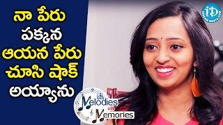 I Was Shocked After Seeing My Name Beside His Name - Singer Malavika    Melodies And Memories