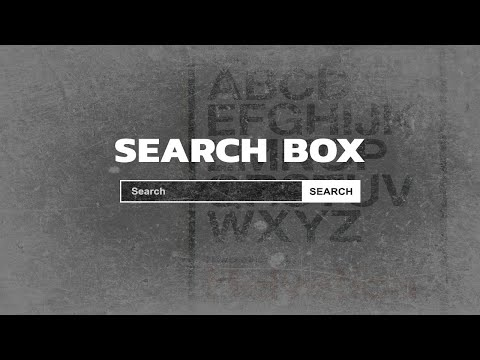 Simple Search Box | HTML & CSS