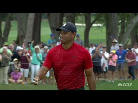 Top Shot: Tiger Woods birdies on 17 from 44 feet