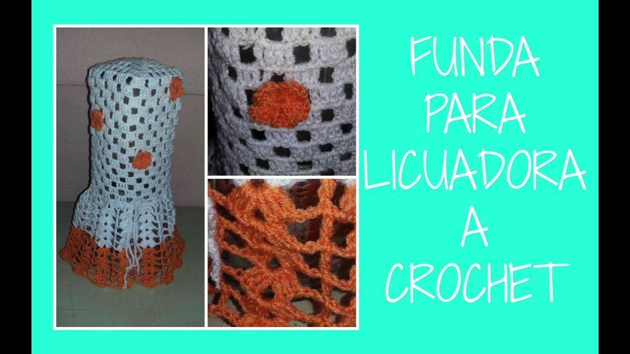 Funda para licuadora a crochet | paso a paso | tutorial fácil y ...