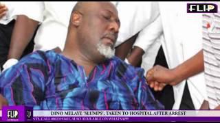 DINO MELAYE 'SLUMPS', TAKEN TO HOSPITAL AFTER ARREST