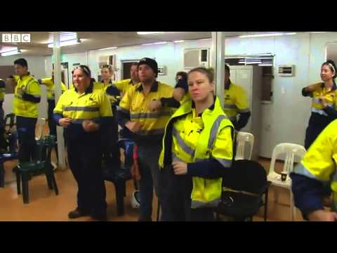 Working in an iron ore mine in Australia