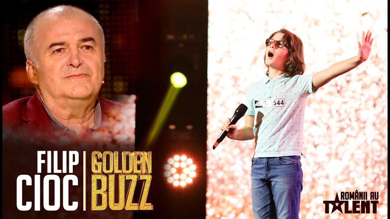 Românii au talent 2021: Vocea lui Filip Cioc l-a făcut pe Florin Călinescu să plângă #GOLDEN BUZZ
