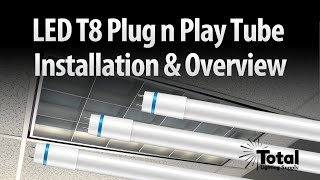 led t8 plug n play tube installation overview by total bulk lighting
