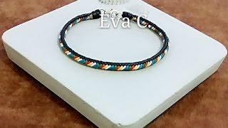 Eva Chiou Jewelry Designs 蠟線教學 15 : 手編 / 杉綾結