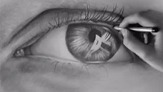 How to draw an eye - Take a look at one hour speeded up