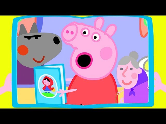 Peppa Pig Official Channel | Peppa Pig's Story Books about a Wolf and an Old Lady