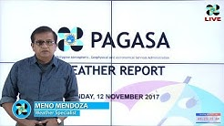 Public Weather Forecast Issued at 4:00 AM November 12, 2017