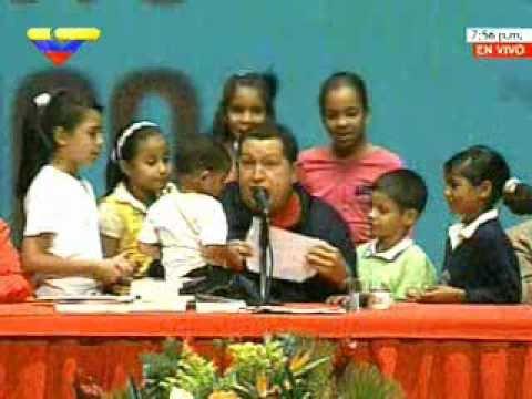 Niños de la Patria Nueva compartieron con Presidente Chávez y Enrique Dussel