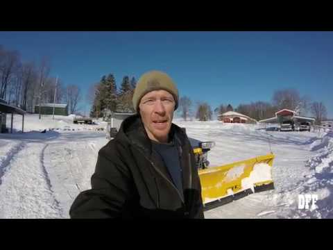 Fisher XLS Snow Plow In Action!!!