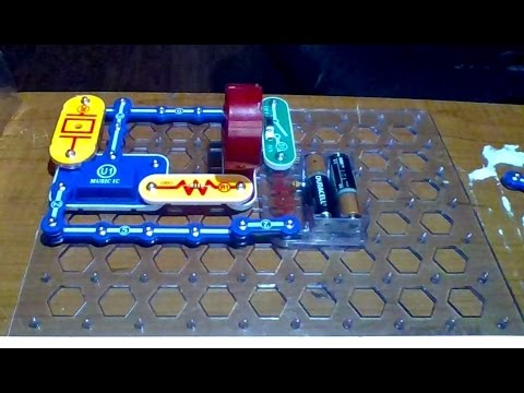 snap circuit adjusting sound level project 4 model sc 300 youtube rh youtube com Snap Circuits Target Snap Circuits Game