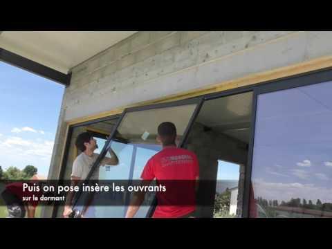 Pose Et Installation Dune Fenêtre Coulissante En Aluminium Youtube