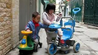 Video | Tit Giang San đi xe lắc | Tit Giang San di xe lac