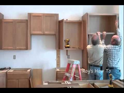 Installing Kitchen Cabinets YouTube Stunning How To Hang Kitchen Cabinets