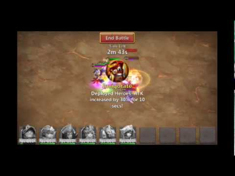 Castle Clash Boss 5 Full 3 Minutes, F2P, Slowdown