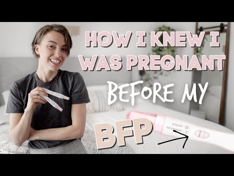How I Knew I Was Pregnant BEFORE I Got My BFP! no morning sickness, sore boobs or craving symptoms!!
