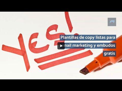 Plantillas de copy listas para email marketing y embudos gratis
