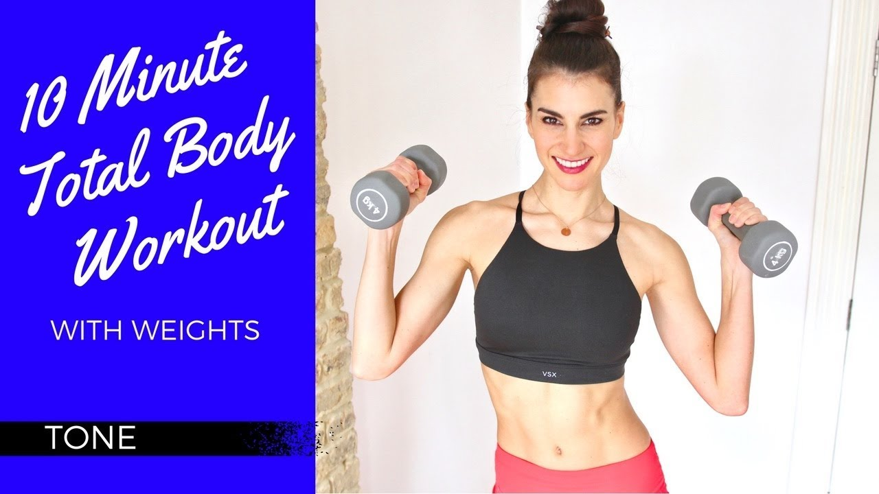 10 Minute Total Body Workout with Weights - YouTube
