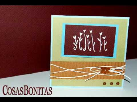 Tarjetas hechas a mano - Card Making - YouTube