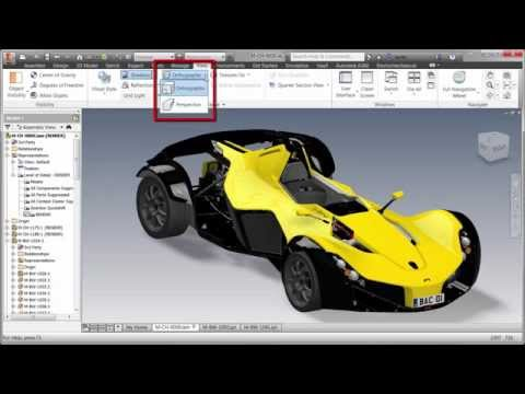 AVA: Visualization in Inventor using Visual Styles - Highlights