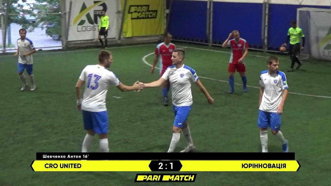 Огляд матчу   CRO United 2 : 1 Юрінновація