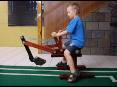 First Try on Wooden Digger - YouTube