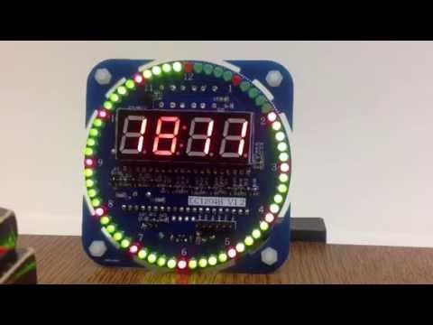 Diy Ds1302 Rotation Led Electronic Clock Kit 51 Scm