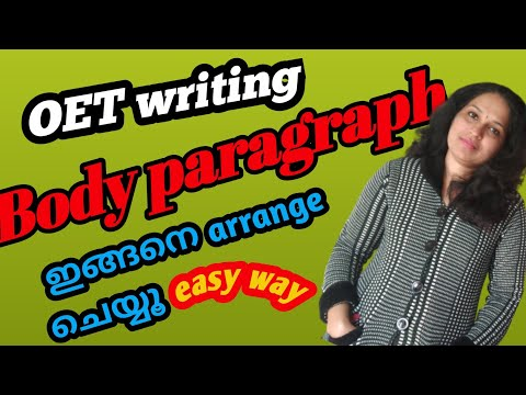 How to arrange body paragraph of OET letter